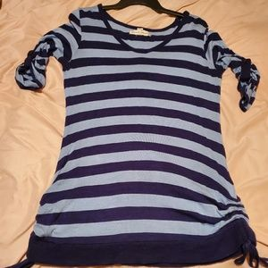 French Laundry 3/4 sleeve striped top size Large!